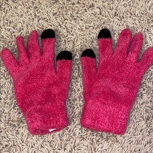 Girls pink gloves